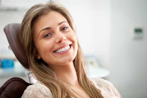 Beautiful Smile from Dentist Chair